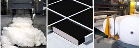 Industrial customized applications with Italian polyester fiber foam products made in Italy, Italian polyester products manufacturing for acoustic padding, furniture sofa pads, polyester fibers mattress pad, clothing foam padding manufacturer, polyester fiber foam, thermal and acoustic insulation for civil building applications for the industry, we offer our Engineering research department to meet your industrial requirements, looking for distributors in Asia, Africa, Europe, Middle East and Latin America...